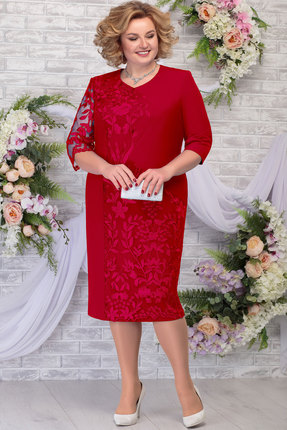 Платье Ninele 7290 красный