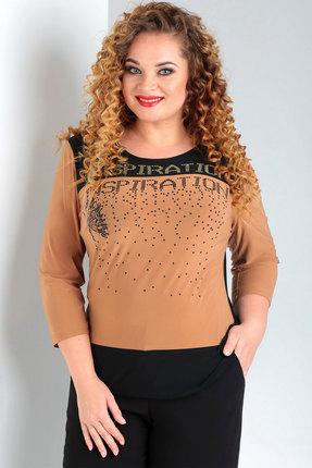 Блузка Jurimex 2276 черный с коричневым фото