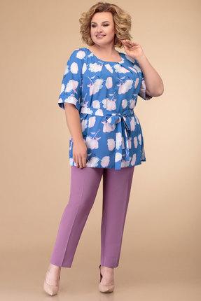 Комплект брючный Svetlana Style 1213 клевер с голубым фото