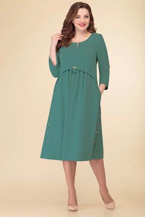 Платье Дали 4294 бирюза фото