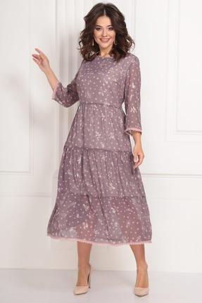 Платье Solomeya Lux 703 розовые тона фото
