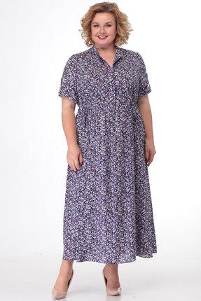 Платье KetisBel 1421.1 синий с розовым