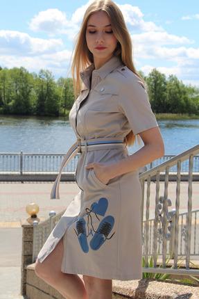 Платье Juliet Style 114-1 бежевые тона