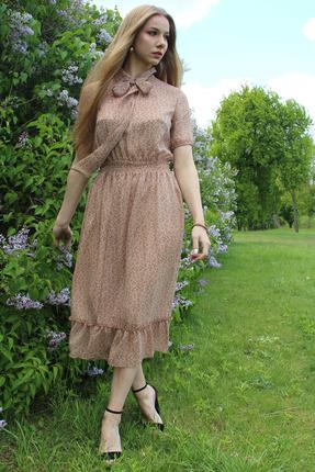 Платье Juliet Style D143-1 бежевые тона