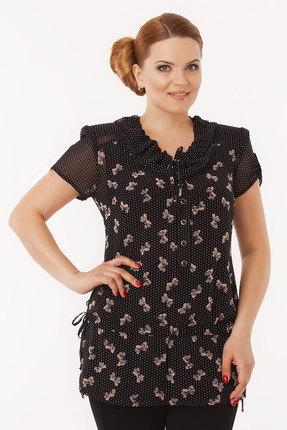 Блузка Дали 1411 черные тона фото