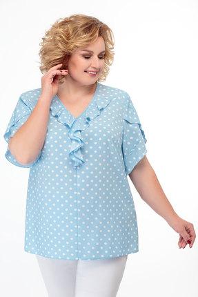 Блузка БелЭкспози 1186 голубой фото