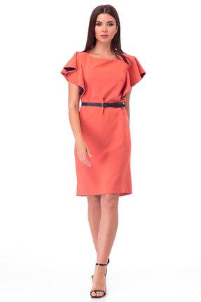 Платье Anelli 281 коралл фото