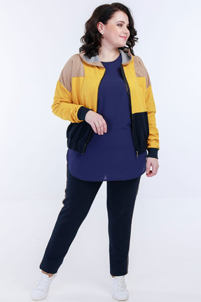 Спортивный костюм Belinga 2035 синий с жёлтым фото