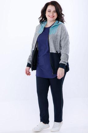 Спортивный костюм Belinga 2036 синий с серым фото