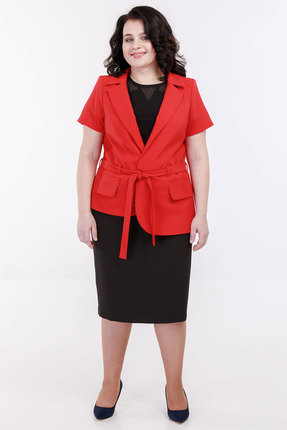 Комплект плательный Belinga 3011 красный с чёрным фото