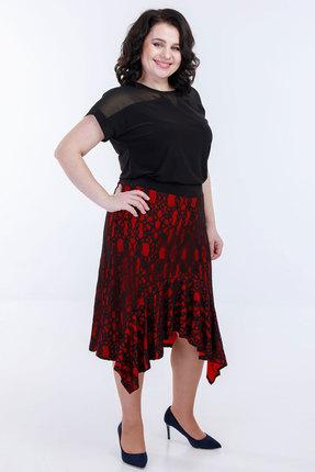 Комплект юбочный Belinga 3013 чёрный с красным фото