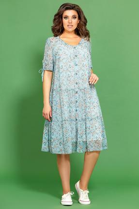 Платье Мублиз 443 голубой