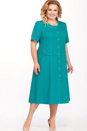 Платье Теллура-Л 1397 бирюзовый фото
