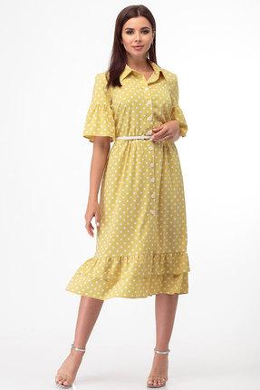 Платье Anelli 713 желтый
