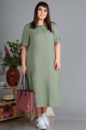 Платье Algranda 3538 олива фото
