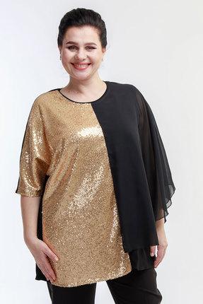 Блузка Belinga 5016 чёрный с золотым фото
