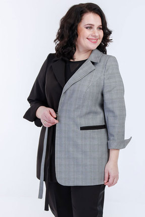 Жакет Belinga 5039 черный с серым фото