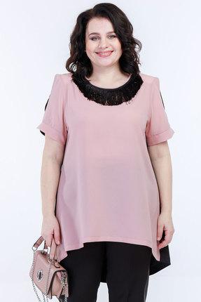 Туника Belinga 5040 розовый с чёрным