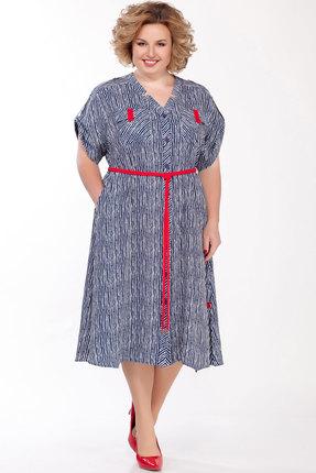Платье Emilia А-551 синий