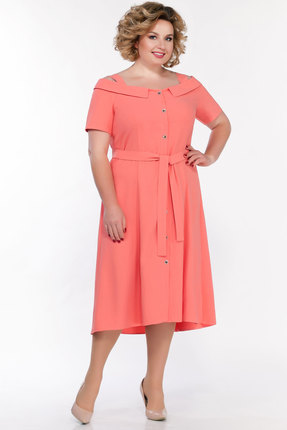 Платье Emilia А-550 персиковый фото