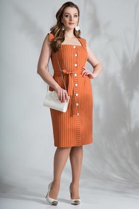 Платье Лилиана 801 терракот