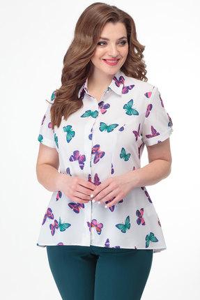 Блузка Anelli 384 молочный с цветным фото