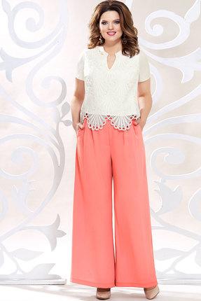 Комплект брючный Mira Fashion 4820 белый+коралл фото