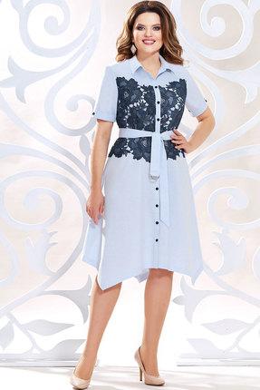 Платье Mira Fashion 4816 голубые тона фото