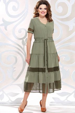Платье Mira Fashion 4796 хаки фото