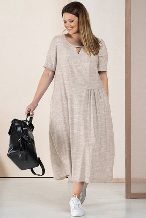 Платье Deesses 1056/1 бежевый