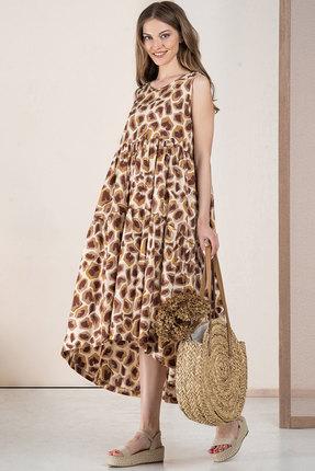 Платье Deesses 1057 капучино с молочным фото