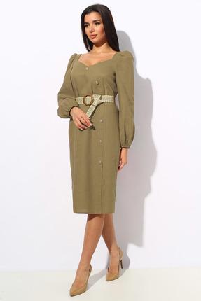 Платье Миа Мода 1148-2 бледный хаки фото