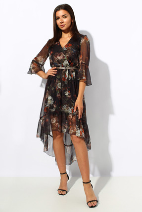 Платье Миа Мода 1152-2 черный фото