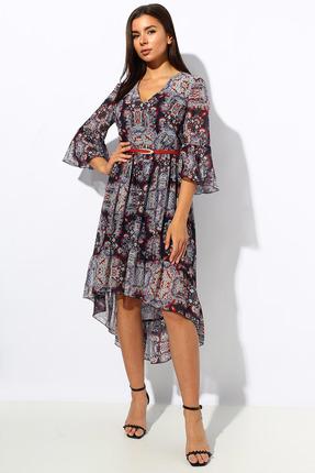 Платье Миа Мода 1152-3 серые тона фото