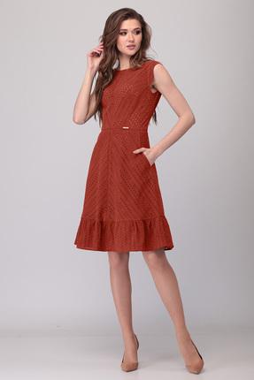 Платье Verita Moda 2070 терракот фото