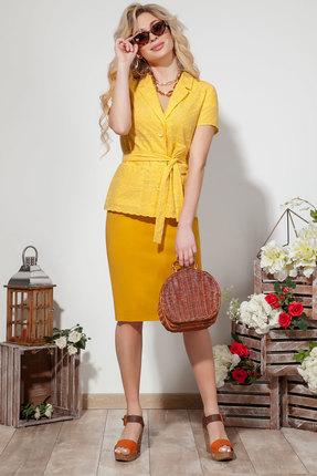 Комплект юбочный DilanaVIP 1528 желтый фото