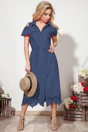 Платье DilanaVIP 1557 синий фото
