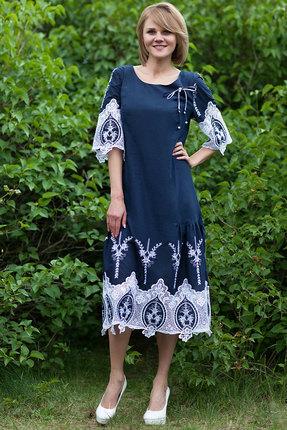 Платье Euromoda 275-1 синий фото