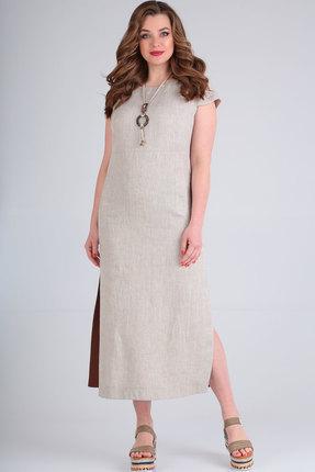 Платье Ришелье 701 натуральный фото