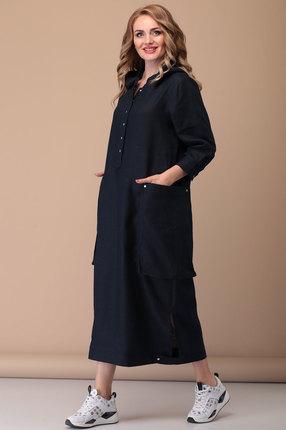 Платье Flovia 4040 темно-синий