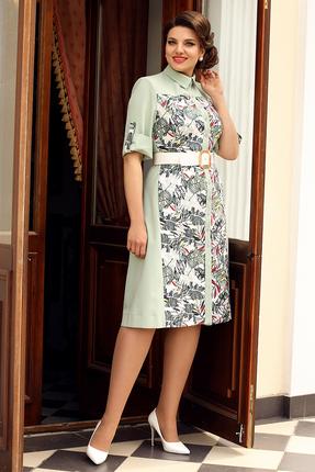 Платье Мода-Юрс 2563 светло-зеленый