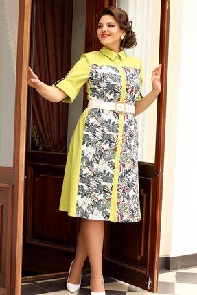 Платье Мода-Юрс 2563 желтые тона