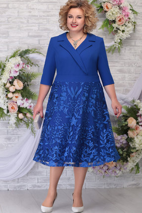 Платье Ninele 2259 василёк