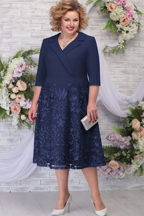 Платье Ninele 2259 тёмно-синий фото