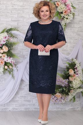 Платье Ninele 5788 тёмно-синий фото