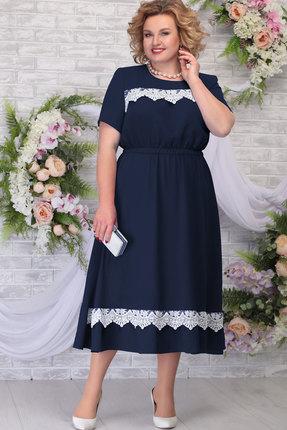 Платье Ninele 7292 тёмно-синий фото