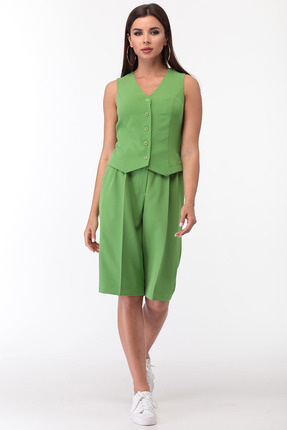 Комплект с шортами Anastasia Mak 728 зеленый фото