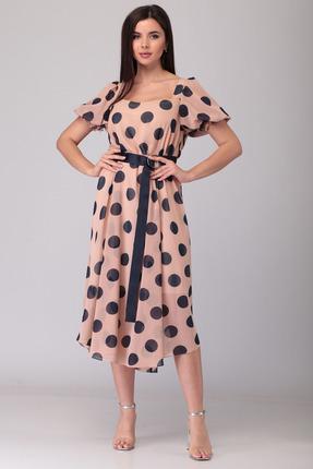 Платье Denissa Fashion 1314 розовые тона фото