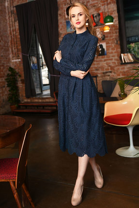 Платье Andrea Fashion AF-17-3 синий