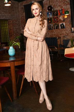Платье Andrea Fashion AF-17-3 бежевые тона